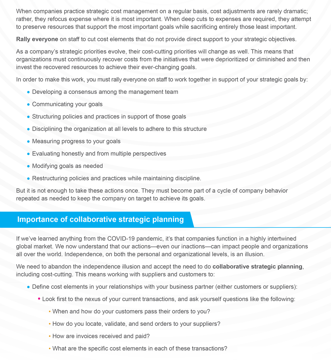 Align Cost Cutting with Strategic Objectives